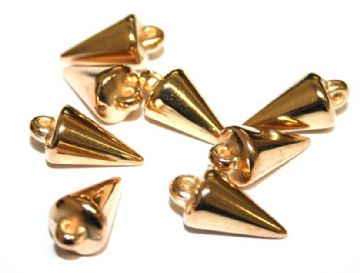 90pcs x 18mm*9mm spike beads -- spike charms --  Finish: rose gold
